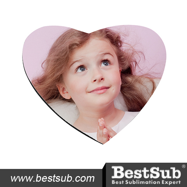 Bestsub 5mm Heart Shaped Sublimation Promotional Mouse Pad (SB68-7)