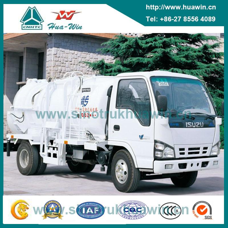 Isuzu 3 Cbm 4X2 Refuse Collecter Truck for Restaurant Waste