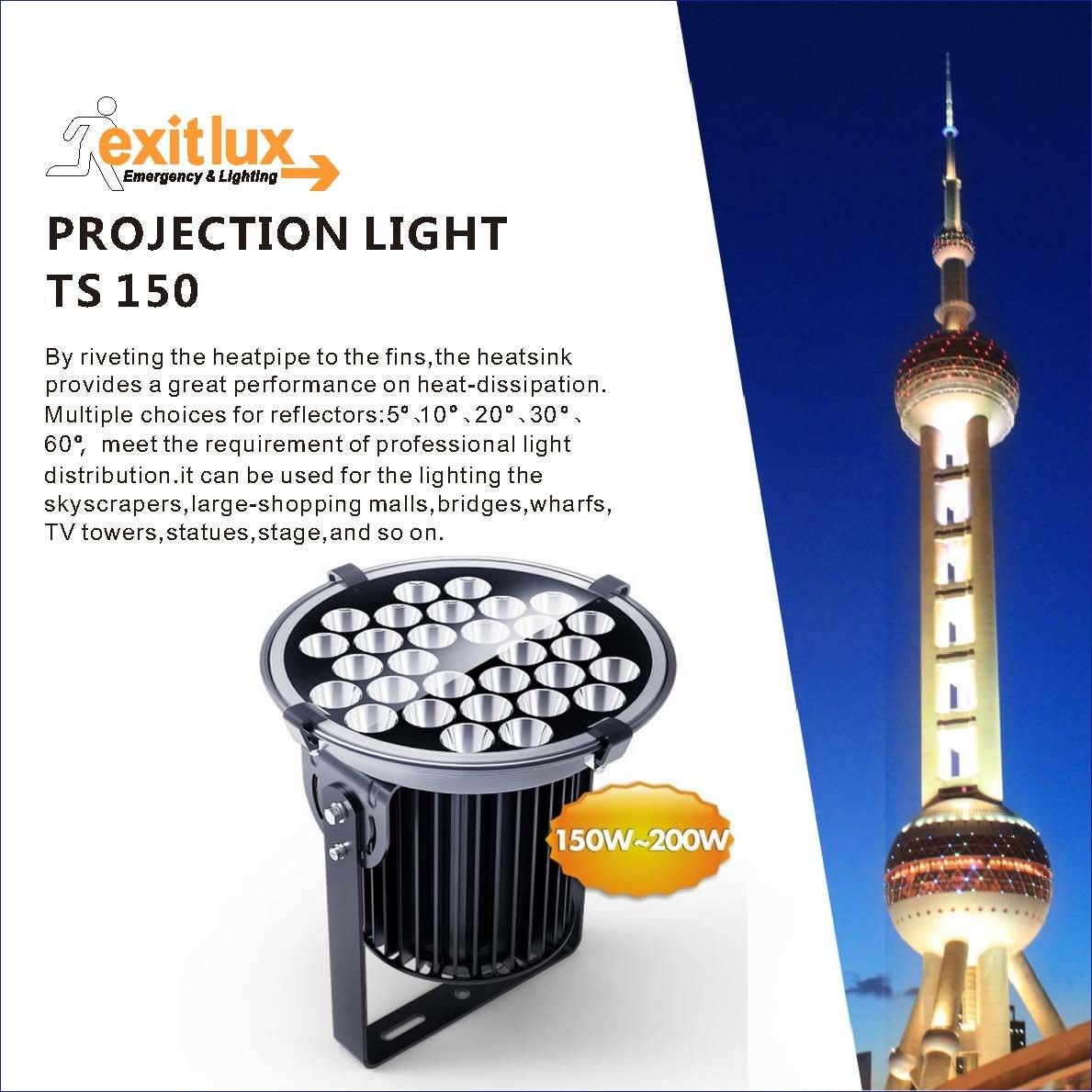 IP65 150W LED Tower Crane Flood Lamp