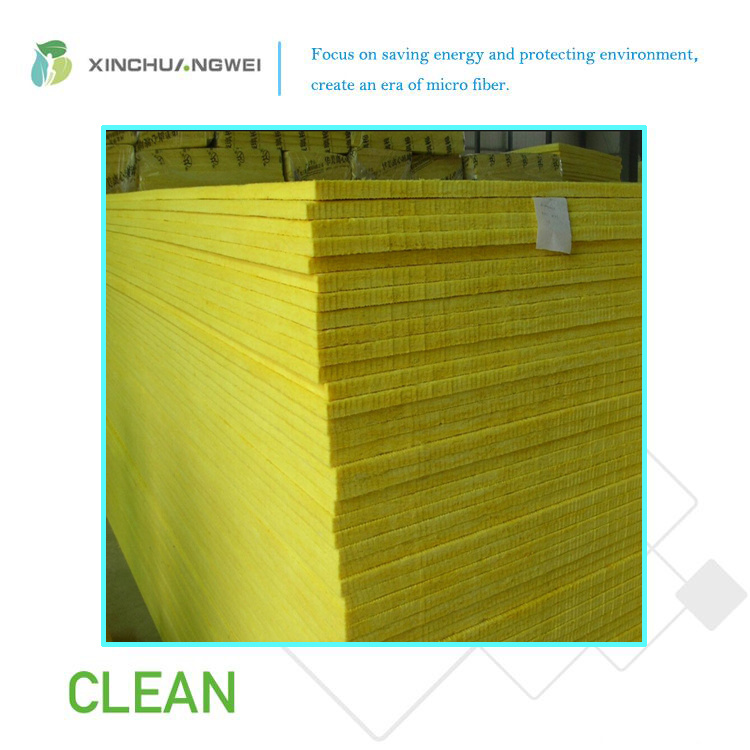 Heat and Thermal Insulation Centrifugal Glass Wool Board for Building Material