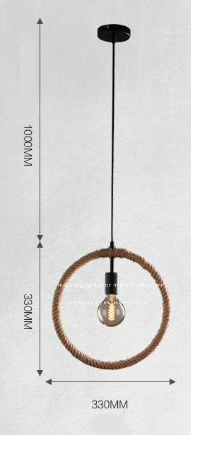 Retro-Style Hemp Rope Pendant Lamp/Creative Pendant Light