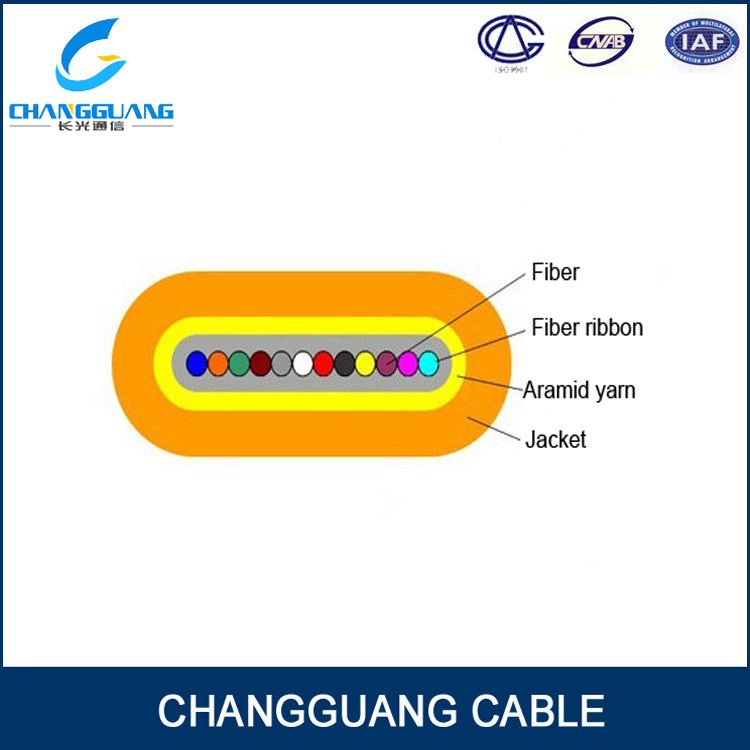 Factory Supply Gjdfjv Optical Fiber Cable Flat Fiber Ribbon Cable with High Fiber Density Inconnect to equipment