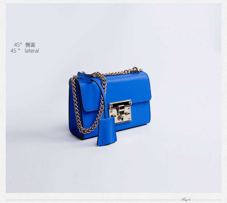 Dz003. Treasure Box Small Square Package Chain Shoulder Bag Fashion Leather Handbags Crossbody