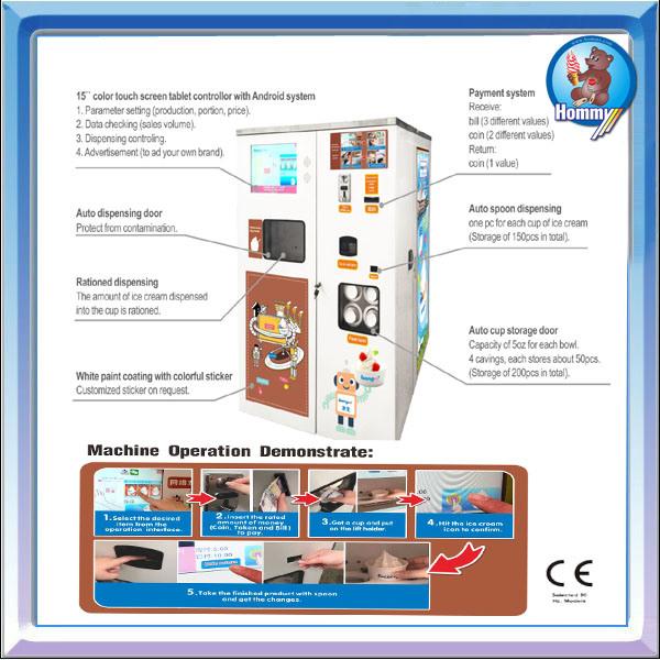 Vending Soft Ice Cream Machine HM736