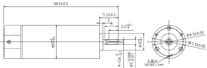 47000rpm High Speed Coreless BLDC Electrical Gear Motor