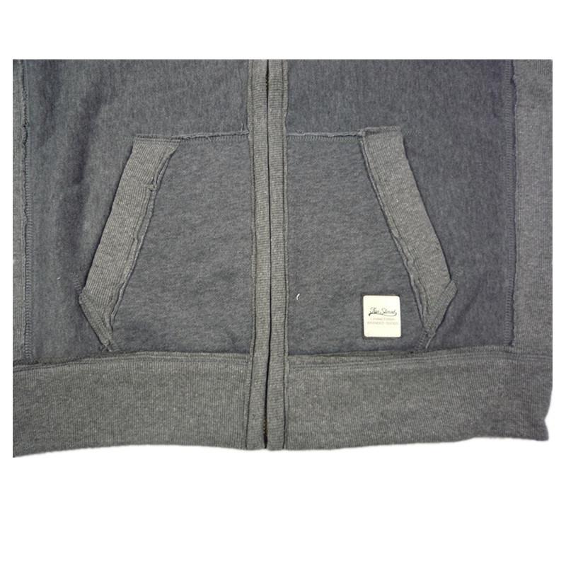 Zip-up Cardigan Hoody Sweater with Custom Screen Printing