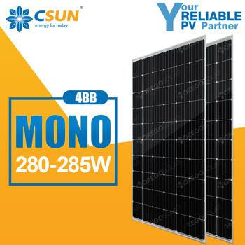Csun Mono Solar Cells (Panel) 280W 285W Solar Product