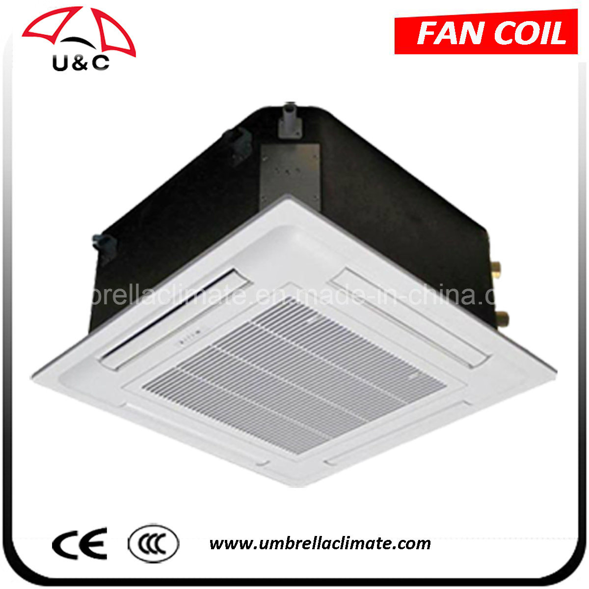 Chilled Water Ceiling Cassette Fan Coil Unit (CE Certified)