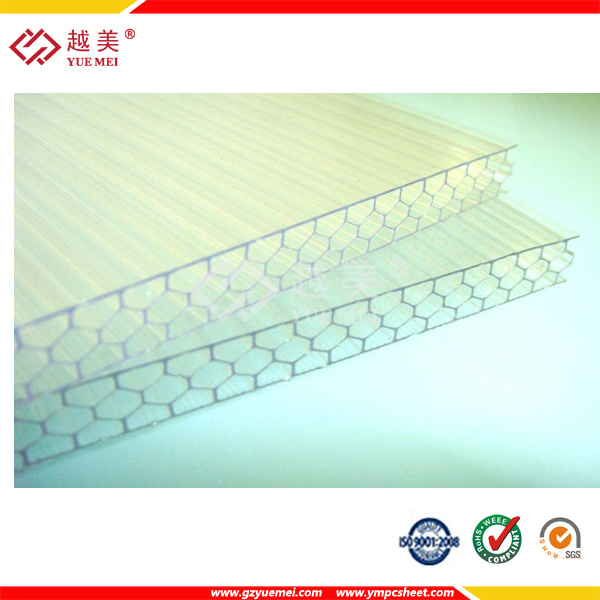 Greenhouse Coverings Materials Polycarbonate Sheets PC Honeycomb Panels