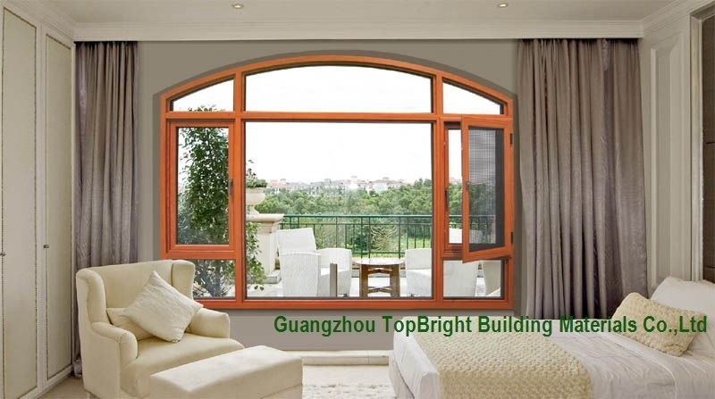 Solid Wood Windows Wood Pictures with Mosquito Net for Sale