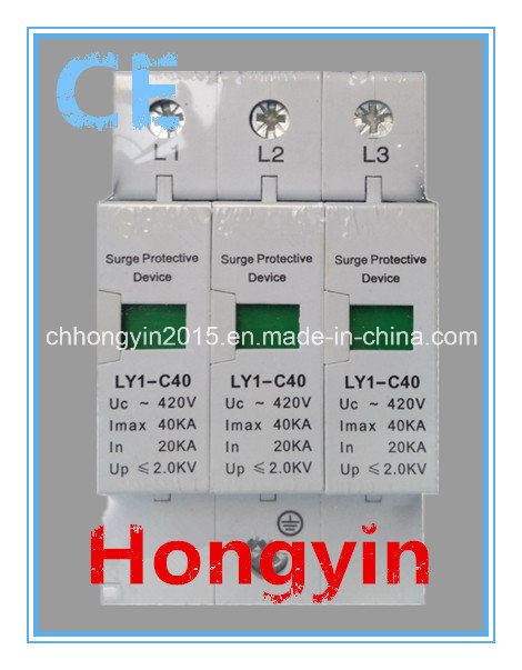 Ly1-C40-3p Class C Photovoltaic 20-40ka Surge Protector SPD