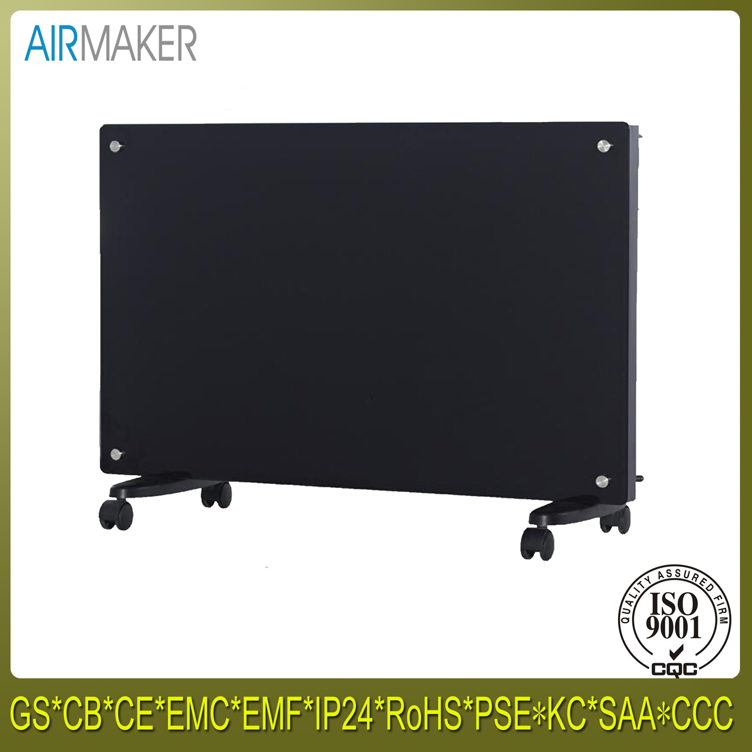 Luxry Cambered Glass Panel Room Heater with Ce/CB/GS Approved