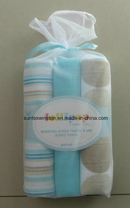 100% Cotton/Organic Cotton/Bamboo Muslin Swaddle