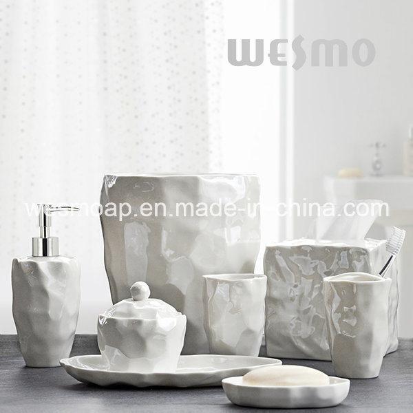 Organic Porcelain Bathroom Accessories (WBC0845A)