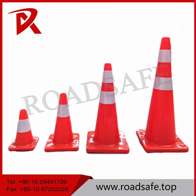 70cm Orange or Red Safety Traffic PVC Folded Cone