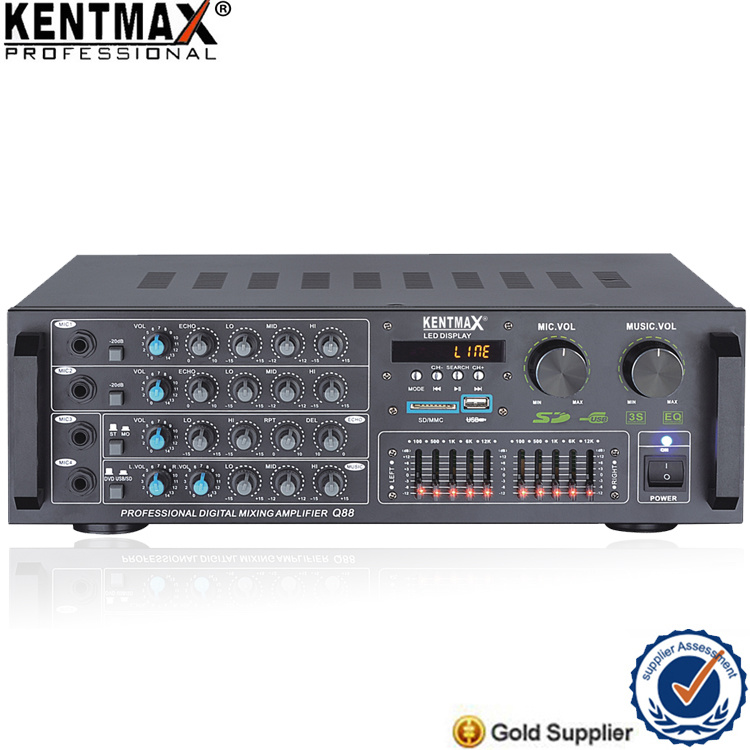 High Quality Real 100W Professional Power Amplifier with USB SD Bluetooth