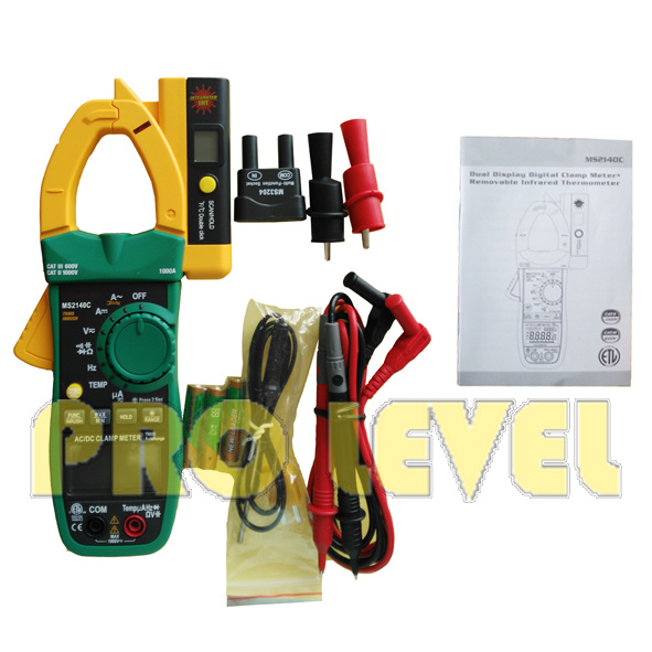 Auto Ranging Digital AC and DC Clamp Meter (MS2140C) with Temperature