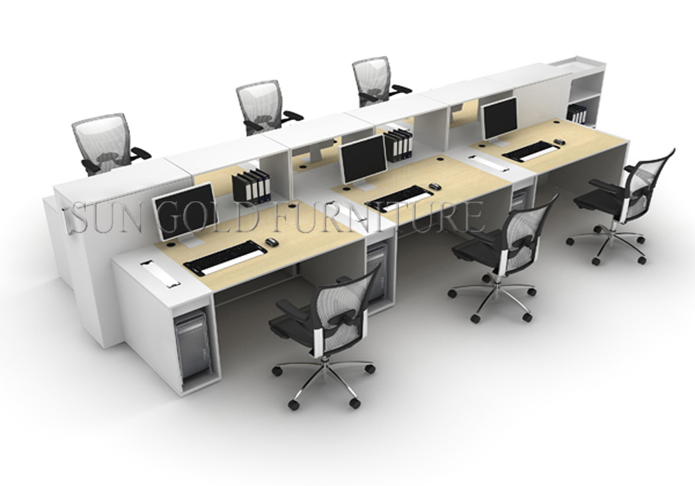 china wooden office workstation design staff table with