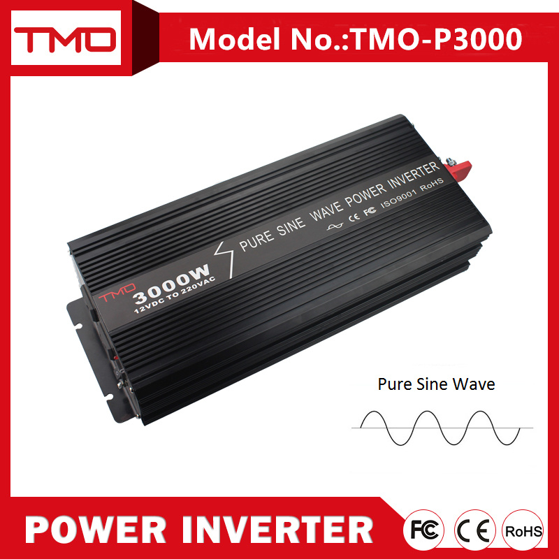 12V/24V/48V DC to AC 3000W Pure Sine Wave Power Inverter