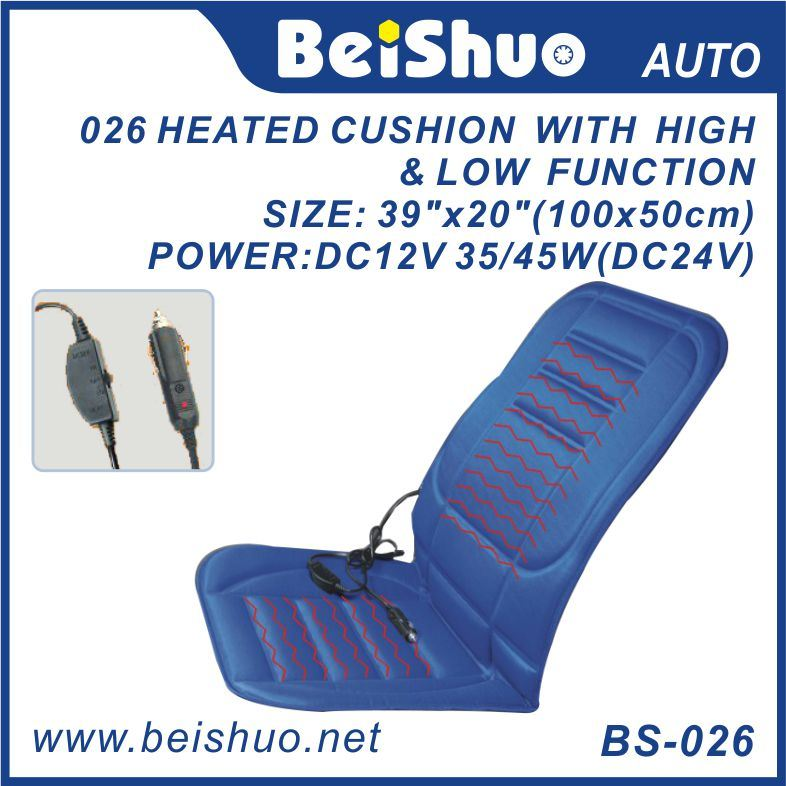 Blue Car Seat Cover with High and Low Switch