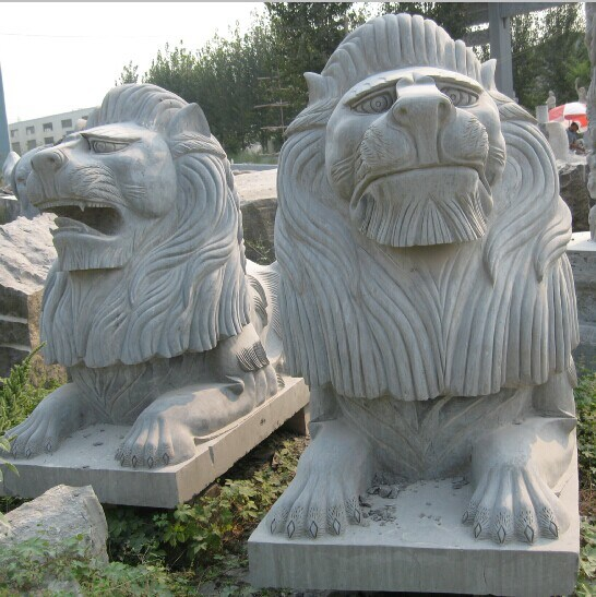 Granite Marble Stone Fountain Carving Lion Sculpture for Wall or Garden Decoration