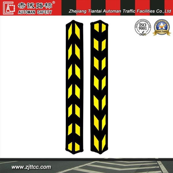 Reflective Industrial Rubber Wall Corner Safety Guard for Parking Lots (CC-C03)