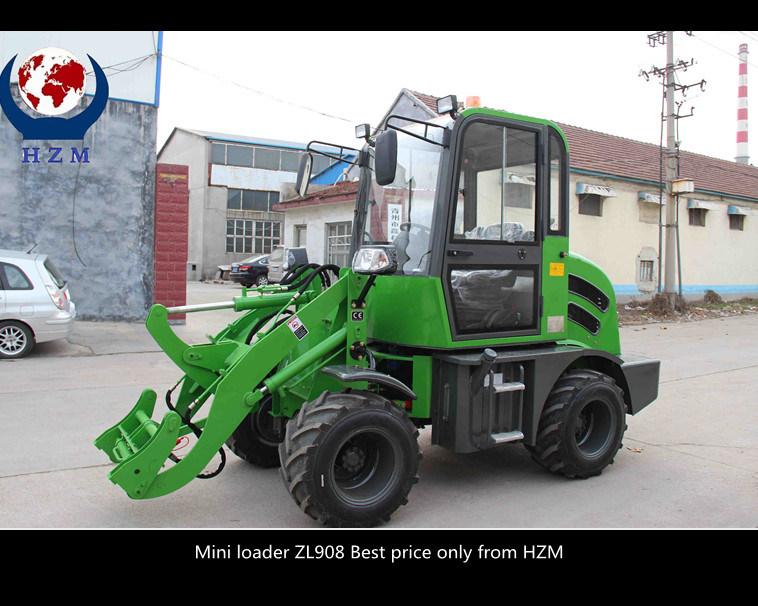 Hzm Top Quality Wheel Loader New Design 800kg Mini Loader