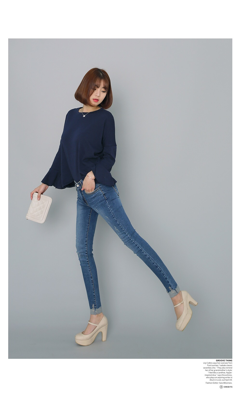 Customized Cotton Fabric Denim Jeans for Women