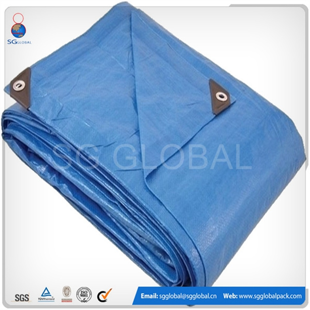 Heavy Duty Blue Plastic Woven 10X10 Tarp