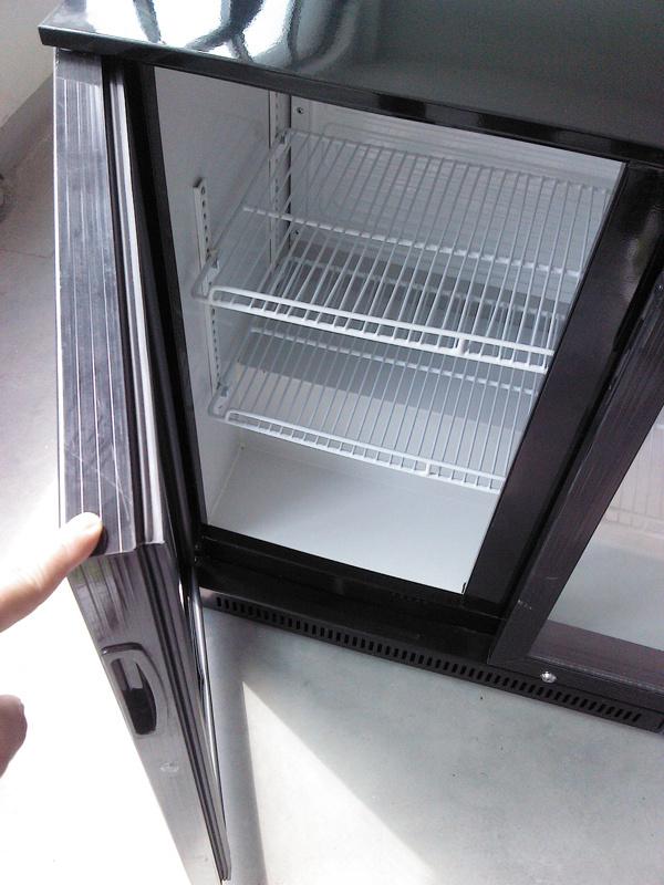 Hot Sale Double Layer Glass Door Back Bar Beverage Beer Bottle Cooler (DBQ300LS2)