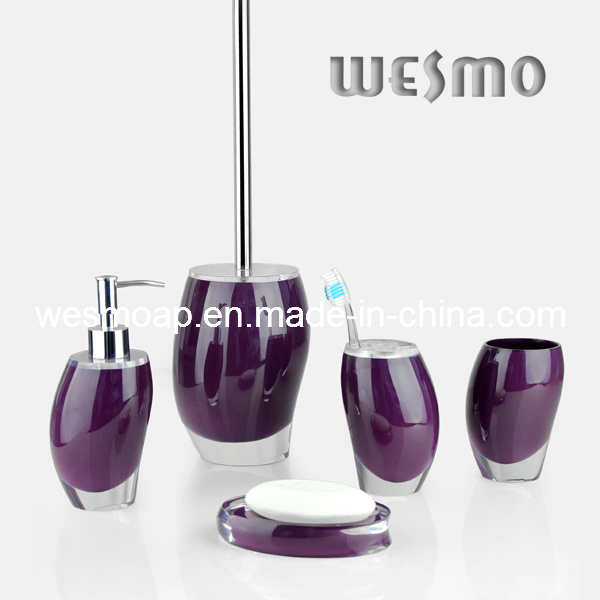 Tranparent Polyresin Bathroom Set (WBP0244D)