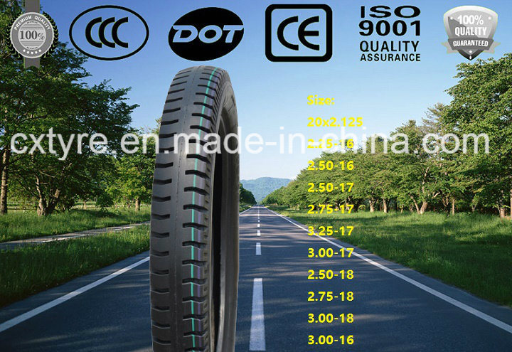Tricycle Tyre / Motorcycle Tire for Philippines Market (3.00-16 3.00-18 3.25-16)