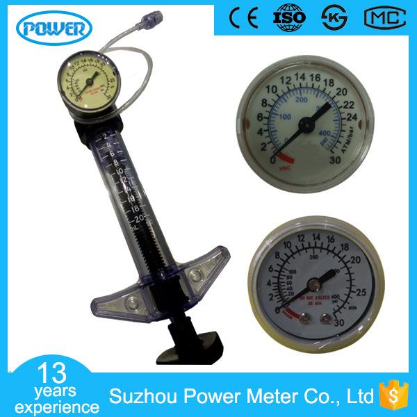 Diameter 40mm 30ATM Medical Oxygen Regulator Gauge for Inflator