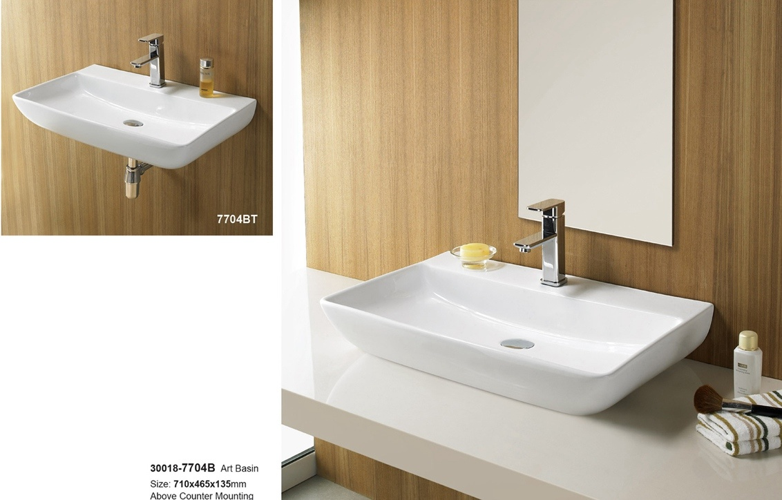 Hot Sales Double Bowl Ceramic Bathroom Vanity 30018