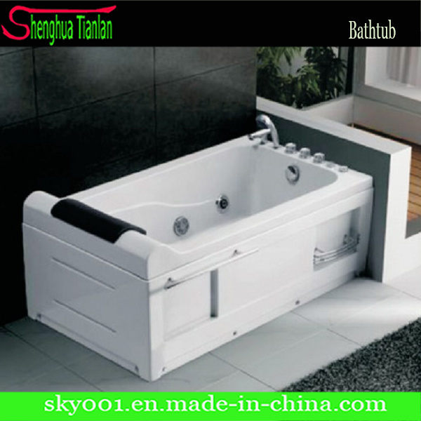 Simple High Rectangle Acrylic Massage Bathtub (TL-310)