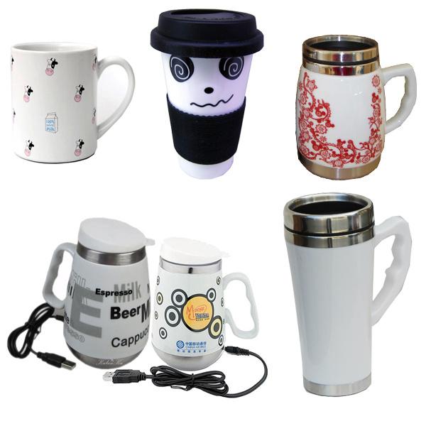 Ceramic Coffee Mug, Promotional Porcelain Mug with Lid