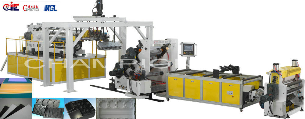 PP /HIPS /Pet /ABS /PE Plastic Sheet Extrusion Line