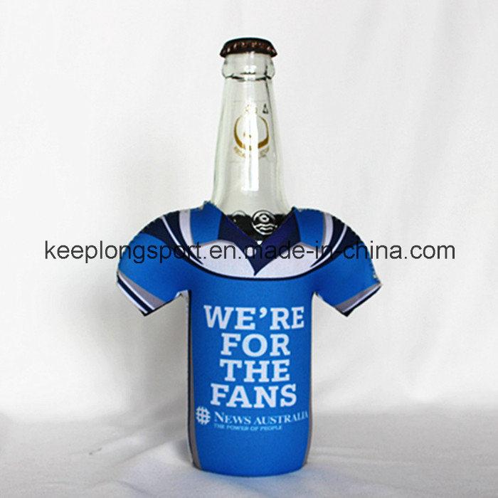 New Design Customized Neoprene Bottle Holder with The T-Shirt Shape
