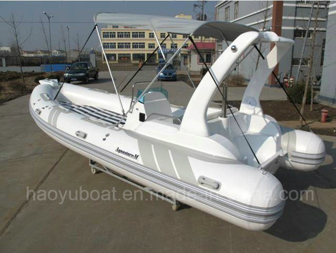 19feet Inflatable Boat Rib580b Fishing Boat Rescue Boat, Sport Motor Boat for Sale