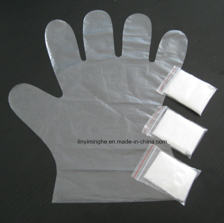 Disposable Plasticfolded HDPE LDPE Glove
