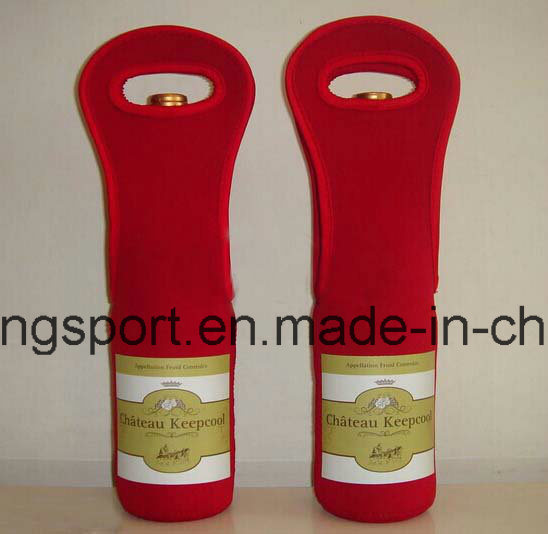 Fashionable and Custom Neoprene Wine Bottle Holder for Picnic, Neoprene Wine Bottle Cooler for Picnic