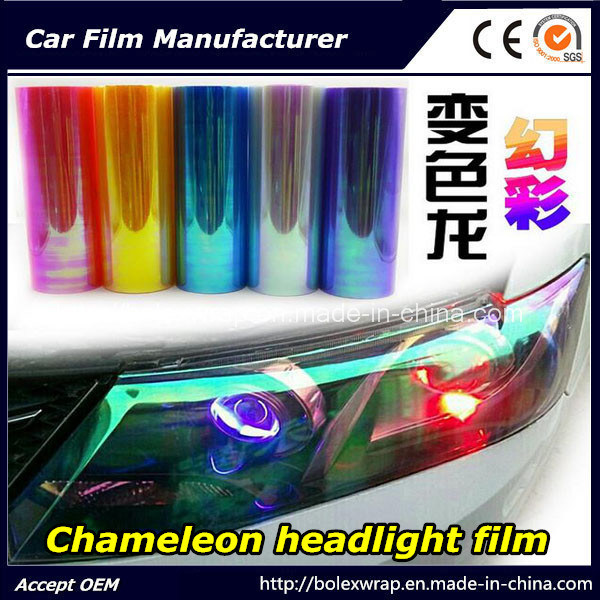 Chameleon Headlight Film, Color Change Car Light Sticker, Decorative Film 30cm*9m