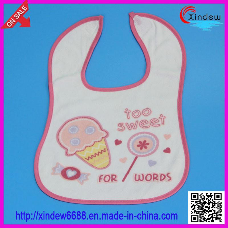 100% Cotton Embroidered Baby′s Bib