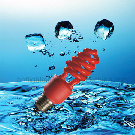 15W Red Color Lamp Energy Saving Bulb with CE (BNF-R)