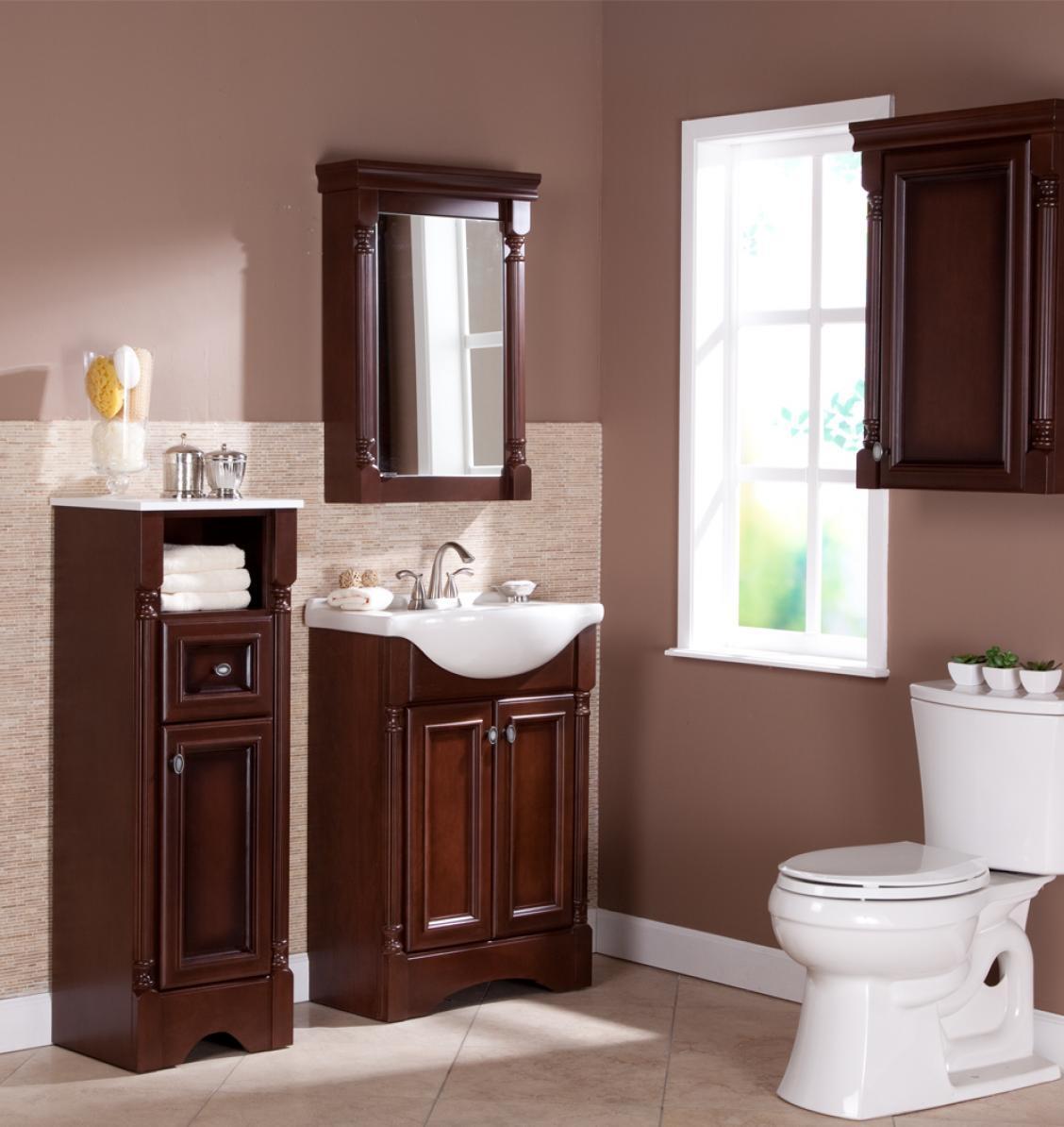 Gabinete Para Baño Madera:vanidad antigua roja 1029 del cuarto de baño de madera de gabinete