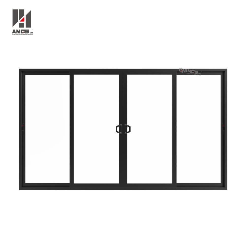 Commercial Double Glass Waterproof Aluminium Profile Used Sliding Glass Doors