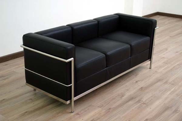 china le corbusier lc2 leather sofa cf009 china. Black Bedroom Furniture Sets. Home Design Ideas