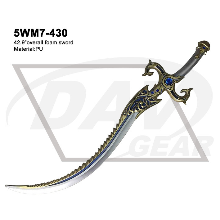 "42.9"" Overall Foam Sword with Painting: 5wm7-430"
