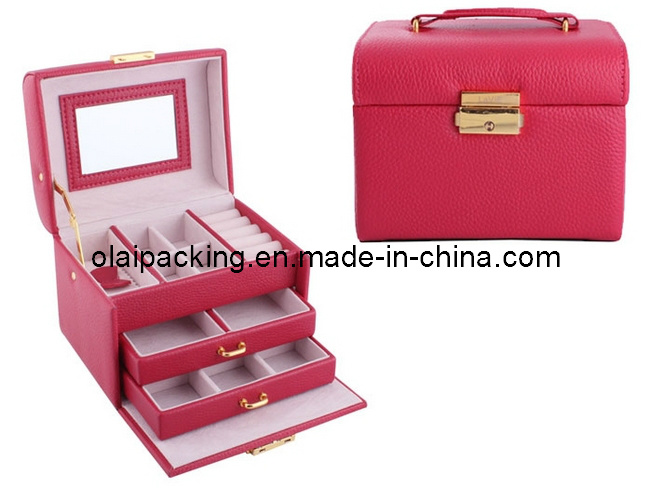Leather Cosmetic Box, Case (LLHZH54)