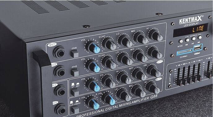 High Quality Real 100W Professional Power Amplifier with USB